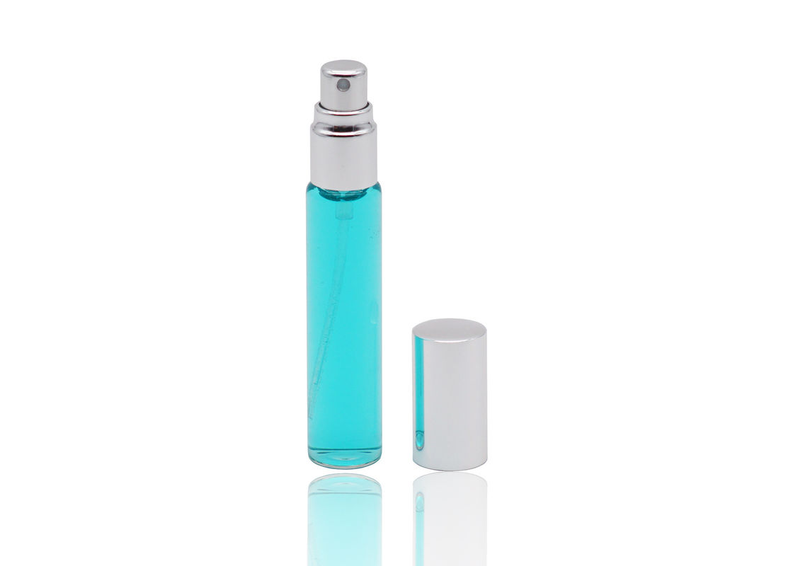 13 / 410 Refillable Glass Perfume Spray Bottles Aluminum Perfume Sprayer Bottle 10ml