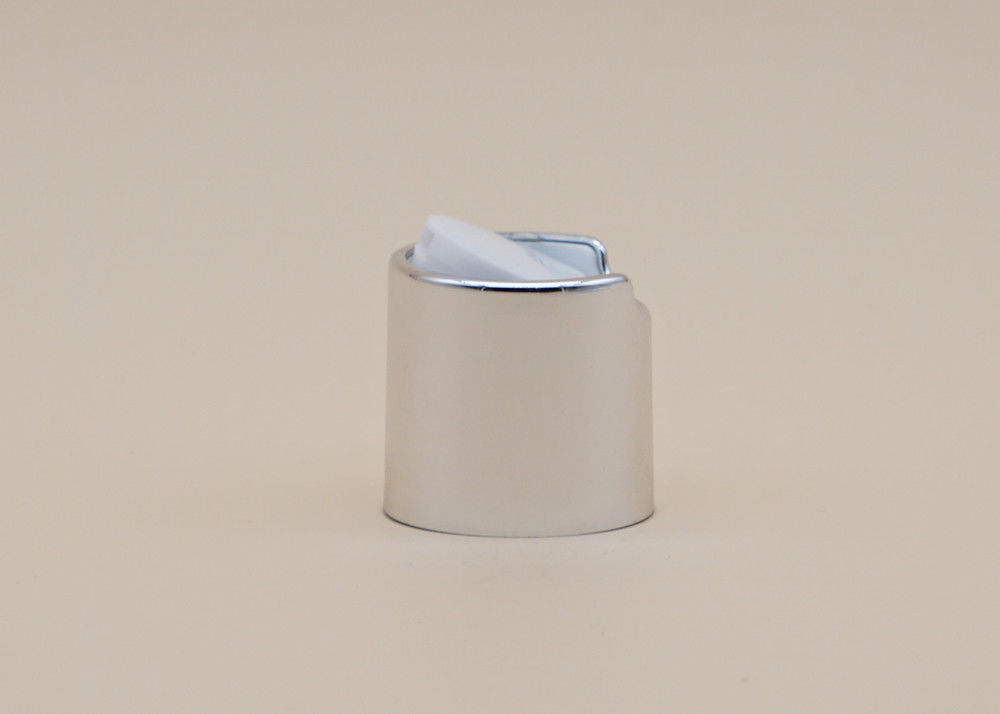 Silver Color Aluminum Disk Top Cap , Shampoo Bottle Cap Customized Color