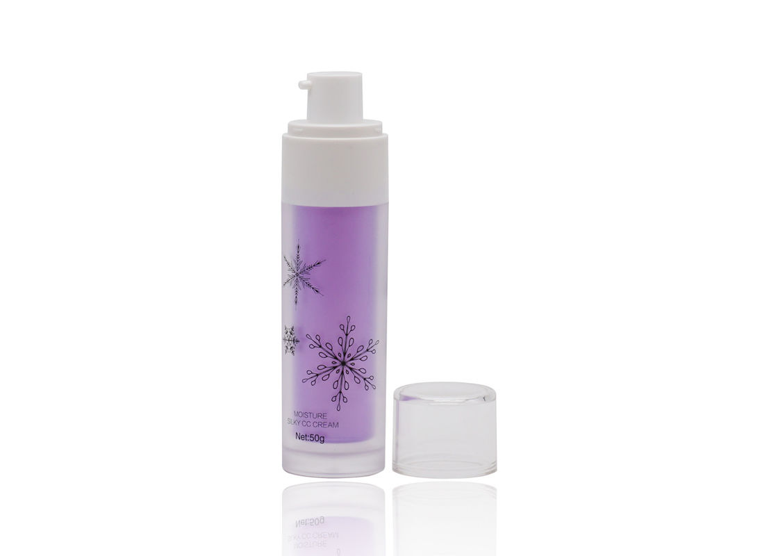 50ml Frosted Purple Cream Spray Bottle Half Cap With Black Silk Screen Printing