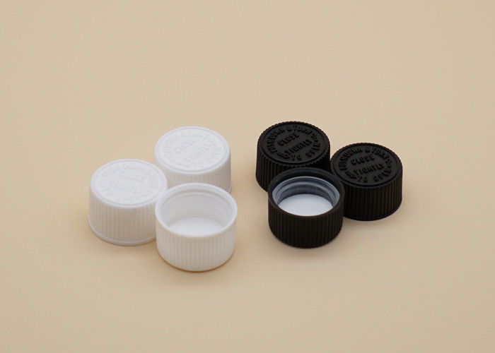 High Reliability Plastic Screw Caps White / Black Color Gasket Inside
